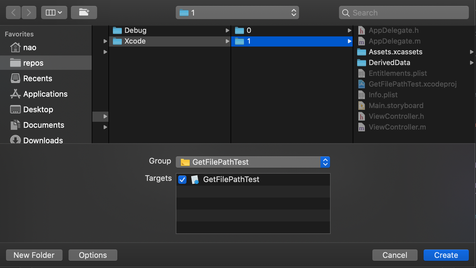 Xcode-CocoaClassを追加する3