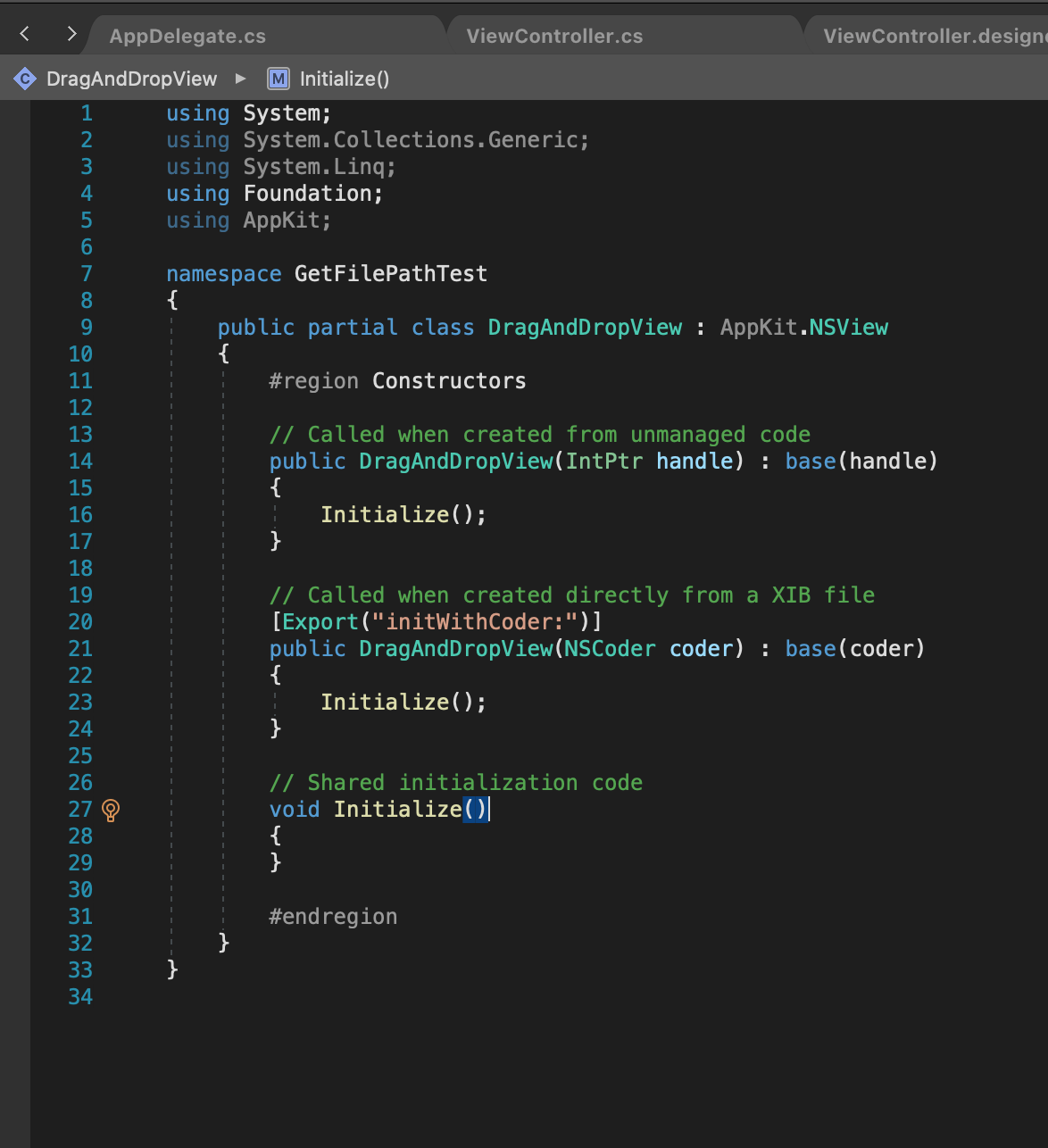 VS2019forMac-C#でViewを追加する3