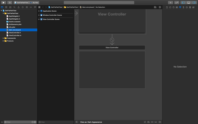 Xcode-InterfaceBuilder初期画面